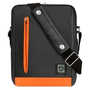 "Vangoddy Adler Laptop Shoulder Bag 10.2"" (Metallic Gray with Orange Trim)"