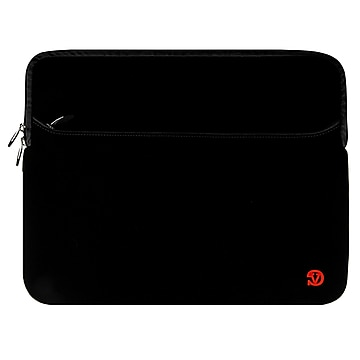 Vangoddy Laptop Carrying Sleeve with Front Pocket Fits up to 17  Laptops (Black)