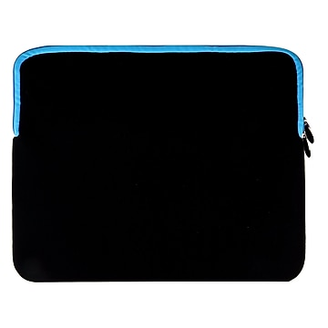 """Vangoddy Neoprene Laptop Protector Sleeve Fits up to 15"""" Laptops (Black with Blue Trim)"""
