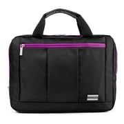 Vangoddy El Prado (Large) Laptop Messenger/Backpack (Black/Purple)