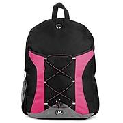 SumacLife Canvas Athletic Laptop Backpack (Magenta)