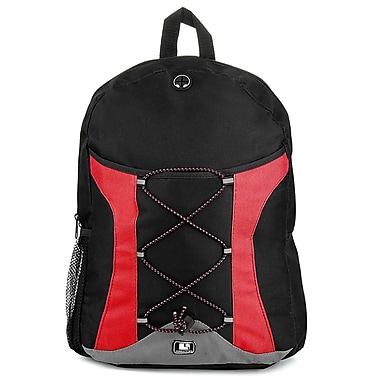 SumacLife Canvas Athletic Laptop Backpack (Red)