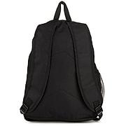 SumacLife Compact Lightweight Nylon Casual Daypack Laptop Backpack, Black/Magenta (NBKLEA474)