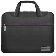 "Vangoddy NineO Laptop Messenger Bag 15"" (Grey/Purple)"