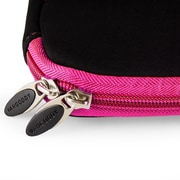 """Vangoddy Neoprene Laptop Carrying Sleeve Fits up to 13"""" Laptops (Black with Pink Trim)"""