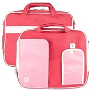 Vangoddy Pindar Laptop Sleeve Messenger Shoulder Bag - Small (Pink and White)