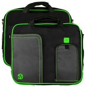 Vangoddy Pindar Laptop Sleeve Messenger Shoulder Bag - Small (Black and Green)