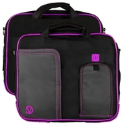 Vangoddy Pindar Laptop Sleeve Messenger Shoulder Bag - Small (Black and Purple)