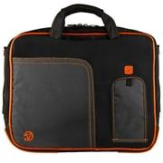 """Vangoddy Pindar Laptop Sleeve Messenger Shoulder Bag Fits up to 15"""" Laptops - Large (Black and Orange)"""