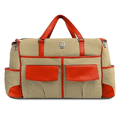 Lencca Alpaque Duffle Bag and Laptop Holder (Raw Beige/Orage)