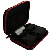 Vangoddy Harlin Black and Red Trim Durable Hard Cover Cube with Handle and Dual Ziper