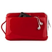 """Vangoddy Hydei 7"""" Protector Case with Shoulder Strap with Handle (Red Patent Leather)"""
