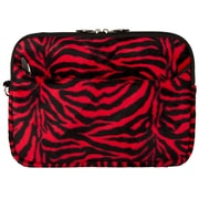 "Vangoddy 10.1"" Soft Cover Protector Sleeve (Black & Red Fur)"