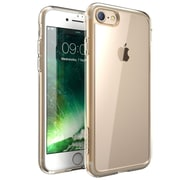 i-Blason Apple iPhone 7 Halo Series Scratch Resistant Clear Case,Clear/Gold