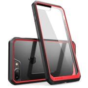 SUPCASE Apple iPhone 7 Plus Unicorn Beetle Series Hybrid Case,Clear/Red/Black
