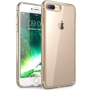 i-Blason Apple iPhone 7 Plus Halo Series Scratch Resistant Clear Case,Clear/Gold