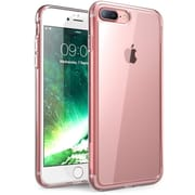 i-Blason Apple iPhone 7 Plus Halo Series Scratch Resistant Clear Case,Clear/Rosegold