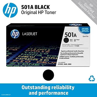 HP 501A Black Toner Cartridge (Q6470A)