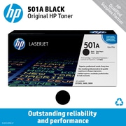 HP 501A Black Toner Cartridge (Q6470A)