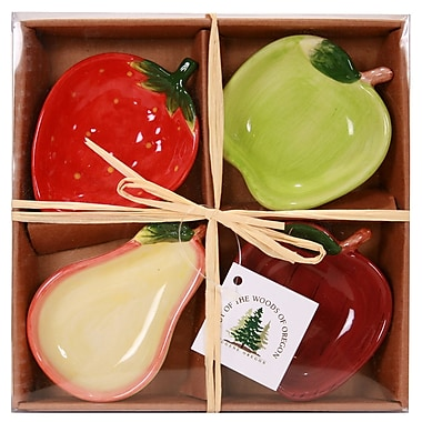 Out of the Woods of Oregon Fruit Serving Bowl 4 Piece Set