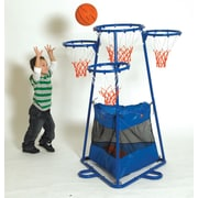 Children's Factory 4 Ring Basketball Stand w/ Storage Bag