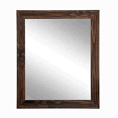 BrandtWorksLLC Rustic Espresso Wall Mirror; 31.5'' H x 21.5'' W