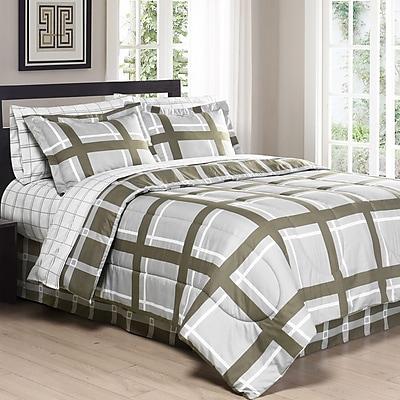 South Bay Gridwork Comforter Set; Twin