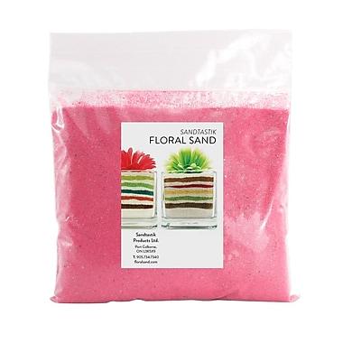 Sandtastik® Floral Coloured Sand, 2 lb (909 g) Bag, Pink, 12/Pack