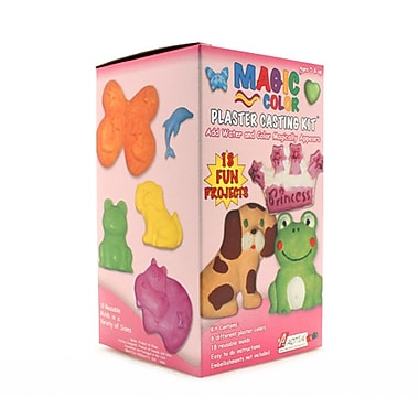 Activa® Magic Color Plaster Casting Kit, Girls, 6/Pack
