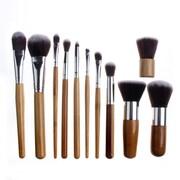 Ayla Zoe Cosmetics – Ensemble de pinceaux à maquillage professionnel écologique de 11 pièces, bambou