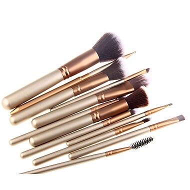 Zoe Ayla Cosmetics – Ensemble de 12 pinceaux à maquillage édition de luxe, doré