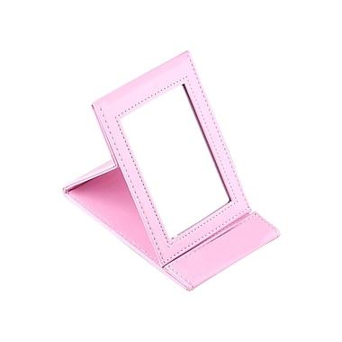 Zoe Ayla Cosmetics – Miroir à maquillage portatif et pliable, cuir, rose