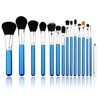 Zoe Ayla Cosmetics – Ensemble de 15 pinceaux à maquillage professionnels, bleu