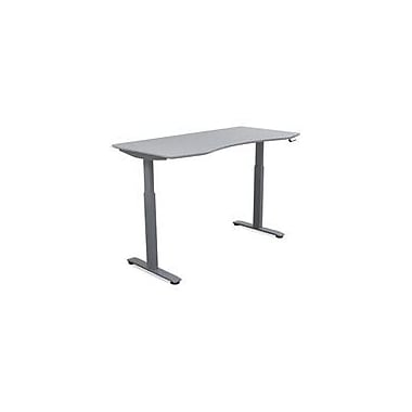 MotionWise Managers Series Electrical Height-Adjustable Desk, Dove Gray (SDD60G)