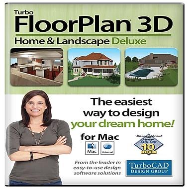 Logiciel TurboFloorPlan Home & Landscape Deluxe 3D 2017, Mac [Téléchargement], anglais