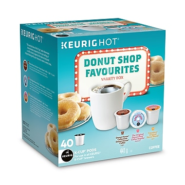 donut shop favourites variety box regular kcup refills 40pack 98