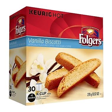 Folgers – Godets K-Cup, Biscotti à la vanille, paq./30