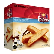 Folgers Vanilla Biscotti K-Cup Refills, 30/Pack