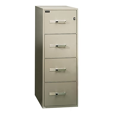 Gardex Classic Fire-Resistant File, 4-Drawer, Vertical, Legal, Beige, 54H x 19 3/4W x 31D (GXGF-400-BE)