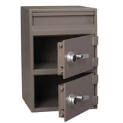 Gardex 2.0 cu.ft. + 2.4 cu.ft., Manual Combination Locks, Depository Safe with Individually-Secured Dual Compartments