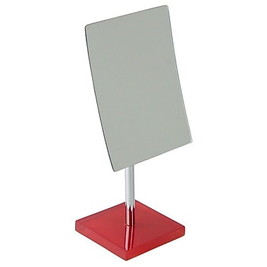 Gedy by Nameeks Rainbow Pedestal 2.5X Magnifying Rectangle Mirror; Red