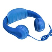 Aluratek AKH01FB Volume Limiting Wired Over-the-Head Headphone for Children, Blue