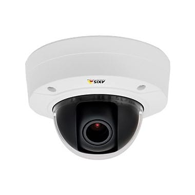 Axis Communications® P3224-V Mk II Wired Fixed Dome Indoor Network Camera, Night Vision, White/Black