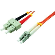 Comprehensive® 2 m LC to SC Male/Male 62.5/125 Duplex Multi-mode Fiber Optic Patch Cable, Orange