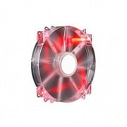 Cooler Master MegaFlow 200 LED Silent Cooling Fan, 700 RPM, Red (R4-LUS-07AR-GP)