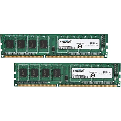 Crucial™ CT2K51264BD160BJ 8GB (2 x 4GB) DDR3 SDRAM DIMM DDR3L-1600/PC3-12800 Desktop RAM Module