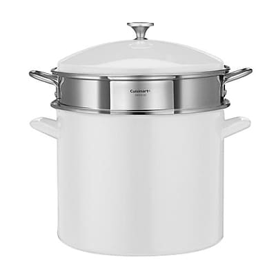 Cuisinart® Chef's Classic 20 qt Stockpot Steam Set, White (EOS126-28WSCP)