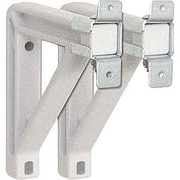 """Draper® 6"""" Fixed Wall-Mounting Extension Brackets for Silhouette Screens, White (227225)"""