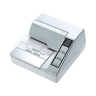 Epson® TM-U295 2.1 ips Monochrome Dot Matrix Receipt Printer, Serial, White