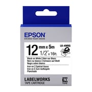 "Epson® LK-4WBQ 1/2"" Thermal Transfer Data Cartridge Label, Black on White"